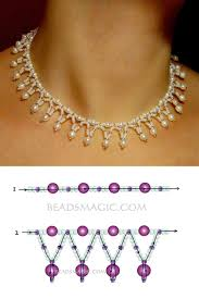 free pattern for necklace tenderness seed beads 11 0 pearl beads 4