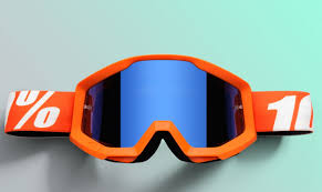 motocross goggle 100 percent new mx strata orange tinted blue lens motocross dirt