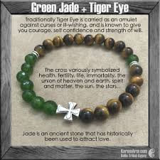 beaded bracelet with cross images Yoga bracelet pathway tiger eye jade luxury jewelry karma arm jpg