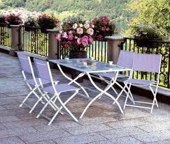 Textilene Patio Furniture by Set Giardino Tavolo 4 Sedie In Ferro E Textilene Per Esterno