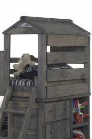 Trendwood The Fort Twin Open Loft Fort Bed Boulevard Home - Trendwood bunk beds