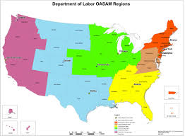 u s department of labor oasam regional map