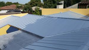 flat roof metal roofs u0026 four flat roofs in miami springs roofer mike inc