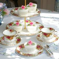 country roses tea set country roses