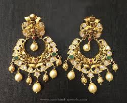chandbali earrings 22k gold antique chandbali earrings ear rings and indian