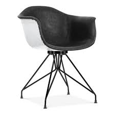 moda aviator cd1 armchair black faux leather cult furniture uk