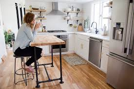 kitchen islands butcher block diy butcher block kitchen island jen kev