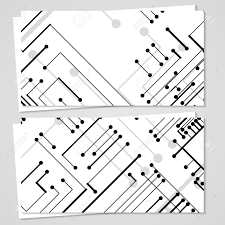Circuit Board Business Card Vector Business Card Set For Your Design Circuit Board