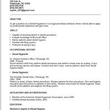 Dental Hygienist Resume Example by 100 Objective For Dental Hygienist Resume Dental Nurse