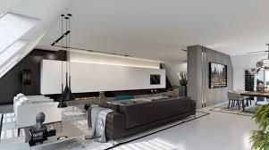 wohnideen farbe penthouse wandfarbe weiß grau ideen für den gesamten wohnbereich