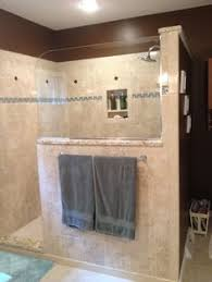 check out this shower makeover using discounted travertine stone