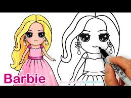 barbie coloring pages youtube so cute so cute how to draw barbie cute step step draw so cute girl