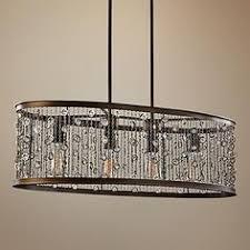 Rectangular Chandelier Bronze Adeline Crystal Rectangular Chandelier Grand 50