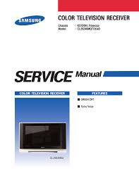 samsung cl 29z40mq service manual