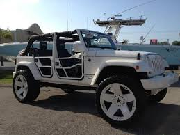 used jeep wrangler 4 door for sale buy used 2007 4 door jeep wrangler custom24rimsliftedsound