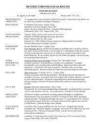 Examples Of A College Resume by Reverse Chronological Resume Template Resume Formats Hybrid