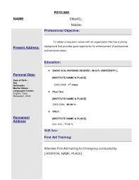 Nursing Position Cover Letter Resume Format Nursing Job Resume For Your Job Application