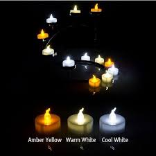 cool birthday candles 24 pcs yellow mini led tea lights candle with timer glow electric