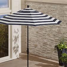 9 u0027 sunbrella navy striped patio umbrella crate and barrel