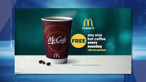 Coffee Mcd cbs 6 mcd free coffee monday bb 2017