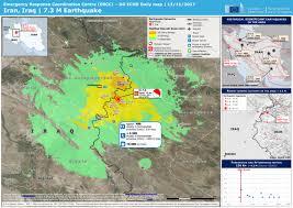 map iran iraq iran iraq 7 3 m earthquake dg echo daily map 13 11 2017