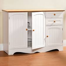furniture small white kitchen buffet with storage and drawers