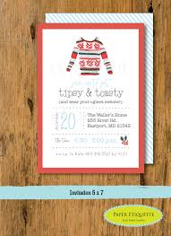 ugly sweater watercolor holiday party invitation christmas
