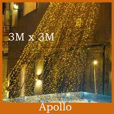 cheap outdoor 3m 3m 300 led curtain light strings waterproof