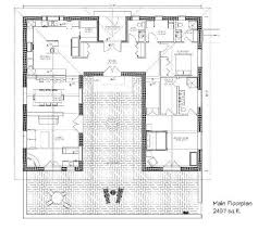small house plans with courtyards bale hacienda strawbale house plan i d move some stuff around