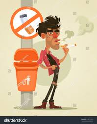 Bad Man Bad Man Character Smoking Under Sign Stock Vector 618121655