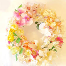 flower wreath kueh flowers silk3 artificial flower wreath