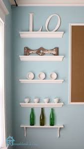 cool modern dining room wall shelves ideas with nice white color