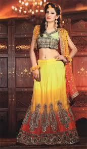 latest pakistani mehndi wear lehngha choli latest designer