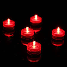 submersible led tea lights 10 red submersible led lights tea light candles