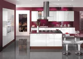 kitchen walls eye catching purple italian kitchen design