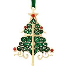 pewter christmas tree cross ornament bronner u0027s christmas wonderland