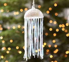 sequin jellyfish ornament pottery barn
