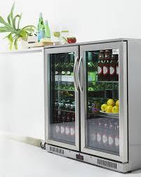 cheap glass door bar fridge under bench fridge glacian u2013 slimline 660mm deep 4 door ss