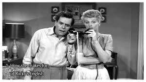 i love lucy funny accent youtube