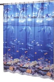 Shower Curtains With Fish Theme Ex Cell Home Fashions Sea Life Vinyl Shower Curtain Walmart Com