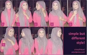 tutorial hijab paris zaskia 20 gambar lengkap tutorial hijab paris ala zaskia sayang dilewatkan