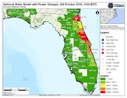 Power Outage Map Florida by Special Event Hurricane Matthew