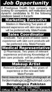 Makeup Artist Jobs Dermalogica Pakistan Jobs 2014 August For Pharmacist Makeup