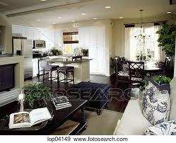 cucina e sala da pranzo archivio fotografico elegante soggiorno cucina e sala da