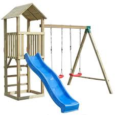 si e balancoire balançoire portique h2 65m enfant aire de jeux en bois avec 2