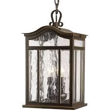 casual european style three light outdoor hanging lantern