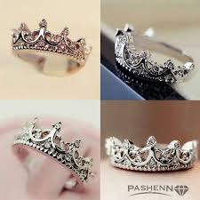 baby girl rings images Baby girl push present white gold crown ring with pink diamonds jpg