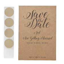 Save The Date Invitation Scratch And Reveal Invitation Save The Date Cards Kraft Pack