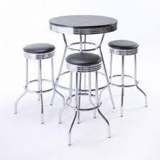 black wood u0026 chrome cabaret cocktail table rc events