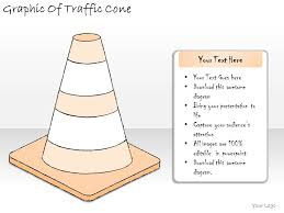 1814 business ppt diagram graphic of traffic cone powerpoint